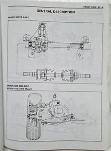 1994 Isuzu Pickup And Amigo Service Shop Repair Manual