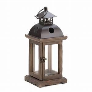 Monticello Wood Lantern at Koehler Home Decor