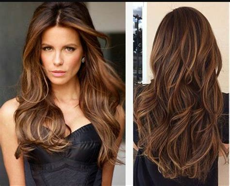 Chocolate Brown Hair, With Rich Auburn And Carmel