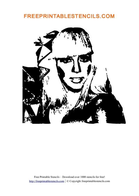 lady gaga printable people stencils  printable stencils