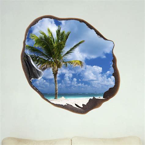 stickers arbres chambre bébé sticker muraux trompe l 39 oeil sticker mural palm et le