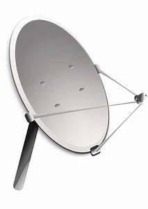 Clipart - satellite antenna (dish)