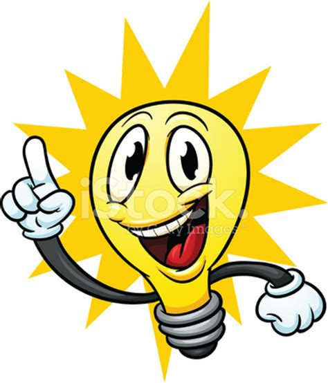 Cartoon Lightbulb Stock Vector Freeimagescom