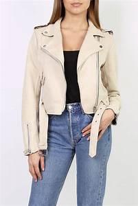 Veste Style Motard Femme : vestes pour femme lucky jewel beige ~ Melissatoandfro.com Idées de Décoration