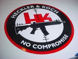 heckler koch firearms  compromise  decal sticker hk