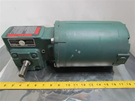 Electric Motor Reducer by Reliance Electric 3 4hp 3ph 56c Motor Tigear Mr94743 10 1