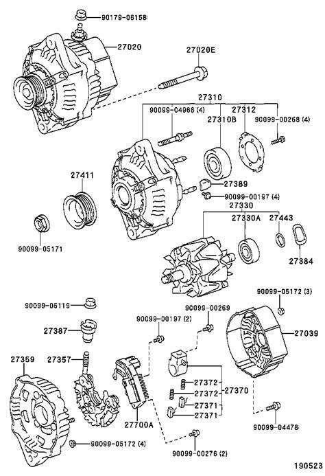 toyota hiluxrzn169r jrmdkq tool engine fuel alternator japan parts eu