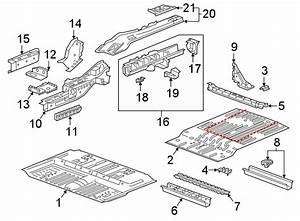 Chevrolet Blazer Floor Extension  Front  Rear  Upper   Oem