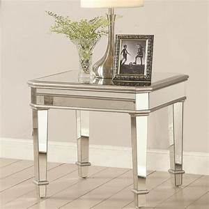 70393, Square, Mirrored, End, Table