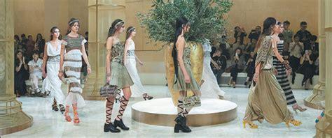models   runway  dressed  greek goddesses