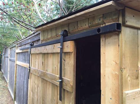 sliding shed door hardware make sliding barn doors using skateboard wheels