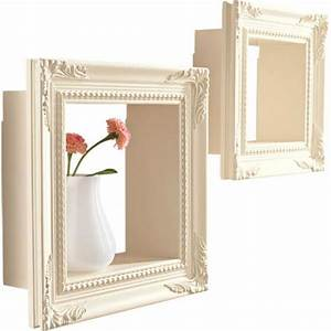 Creative wall decoration with picture frame and display