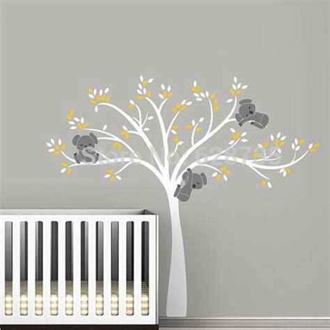 stickers arbre pour chambre bebe large size tree wall sticker for koala