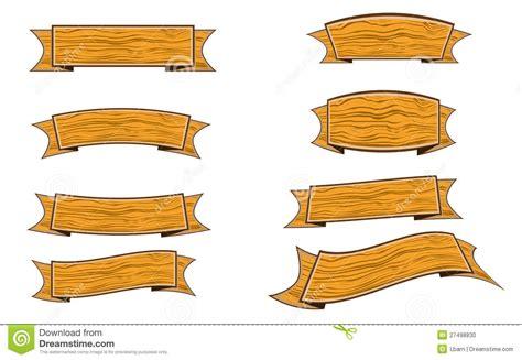 wood banner stock vector illustration  banner label