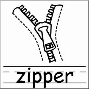 zipper black and white clipart - Clipground