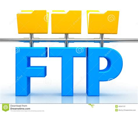 Illustration Of Ftp ( File Transfer Protocol ) Stock