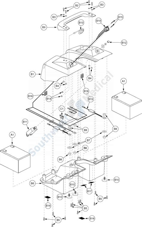 Go Go Scooter Wiring Diagram For by Sc46 Bebop Replacement Parts Battery Box 187 Electronics