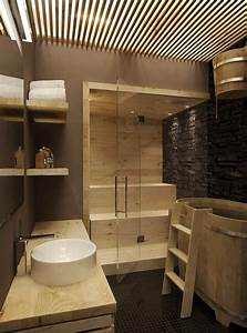Spa Einrichtung Zuhause : kleine sauna in badezimmer integriert minisauna im bad eine sauna in den eigenen vier w nden ~ Markanthonyermac.com Haus und Dekorationen