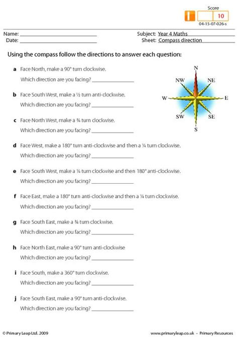 compass direction primaryleap co uk