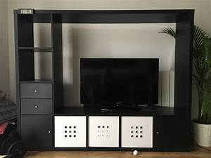 Ikea Black TV Storage Unit LAPPLAND Furniture