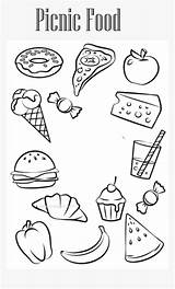 Picnic Coloring Clipart Colouring Printable Sheets Pikpng Kindpng Template Subject sketch template