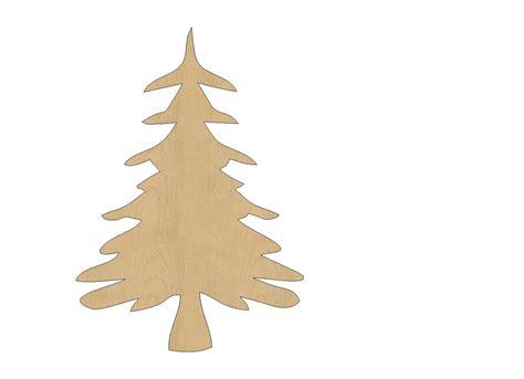 christmas tree cutout shape laser cut unfinished wood shapes