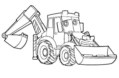 Coloring Excavator by Digger Coloring Pages Coloring Pages