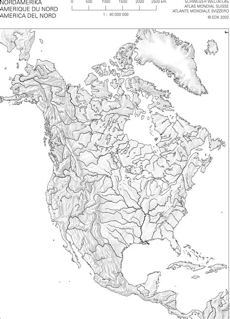 stumme karte nordamerika