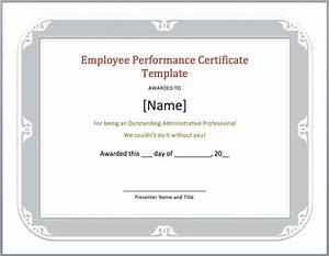 Employee Certificate Templates Free Employee Experience Certificate Template Microsoft Word Templates