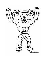 Weightlifting Coloring Lifting Weights Colormegood sketch template