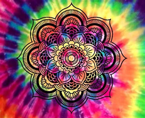 Tye Dye Desktop Wallpaper Rainbow Mandala Tumblr