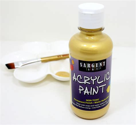 sargent 25 2381 8 ounce metallic acrylic paint gold