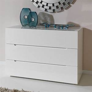 commode adulte design laque blanche urbano tiroirs with With infinikit haven commode en chne dor 6 tiroirs