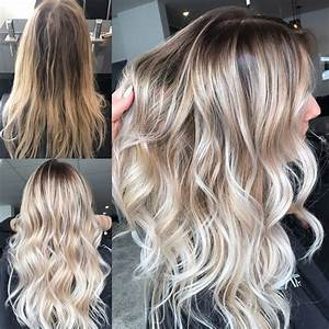 Balayage Ombré Blond : instagram hairbykaitlinjade blonde balayage long hair ~ Carolinahurricanesstore.com Idées de Décoration