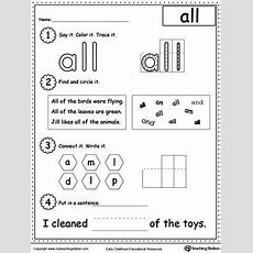Highfrequency Word All Printable Worksheet  Alphabet And Reading  Learning Sight Words