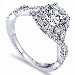gabriel er7543 criss cross halo engagement ring With 3 crossing wedding bands ring