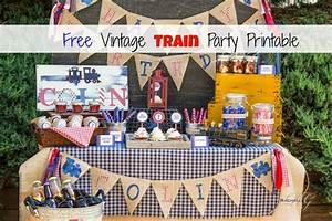 Free Vintage Train Party Printable