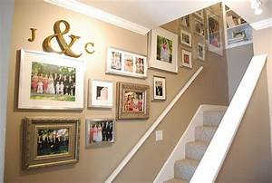 25 best ideas about stairway wall decorating on pinterest With best brand of paint for kitchen cabinets with custom last name wall art