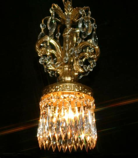 Swag Chandelier In by Vintage Swag In Rococo Hanging Brass Plt Lantern L