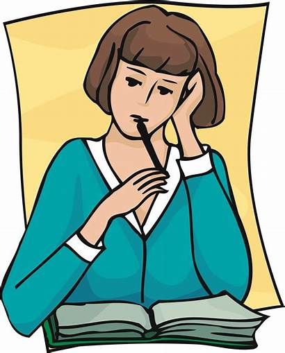 Thinking Student Clip Reflection Clipart Library Cliparts