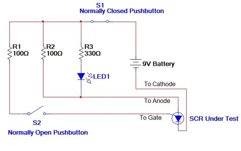 Test Trigger Circuit For Scr Silicon Controled