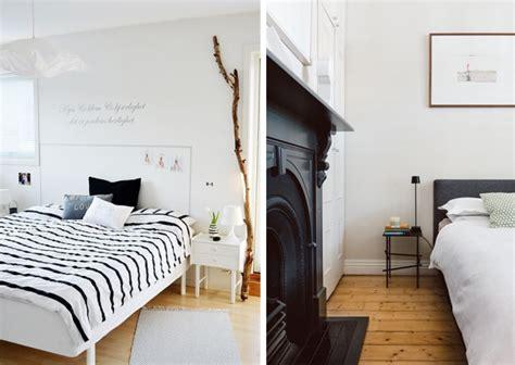 chambre avec mur en une chambre en noir et blanc joli place
