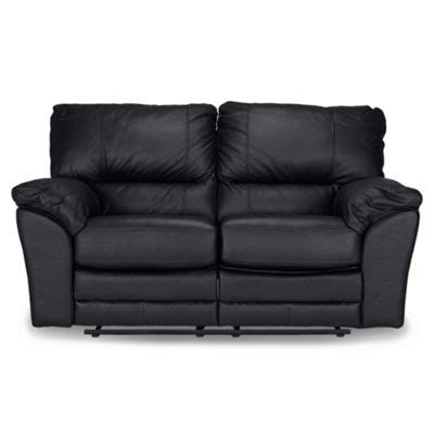 Small Black Loveseat by Buy Madrid Small 2 Seater Leather Recliner Sofa Black