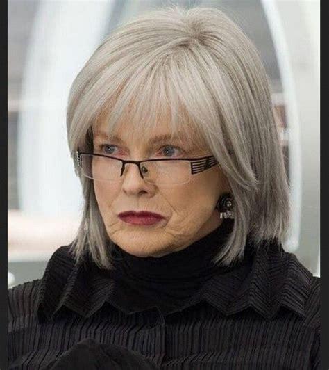 short hairstyles  older women  glasses