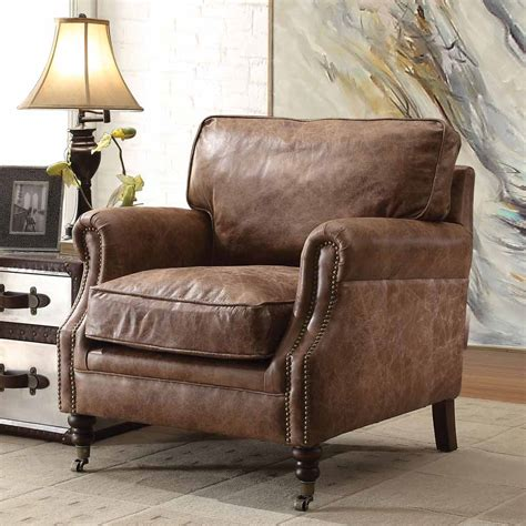 top grain leather club chair dundee accent club chair retro brown top grain leather 8548