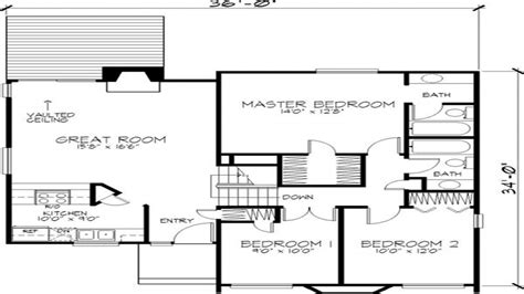 contemporary one house plans modern 2 house floor plan residential 2 storey house