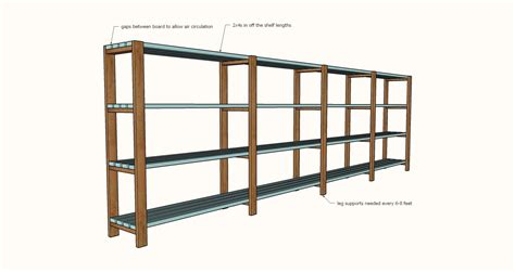 diy garage shelves freestanding garage shelving diy