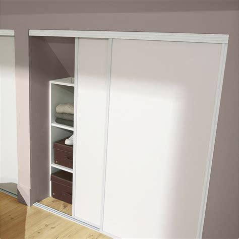porte coulissante de cuisine lot de 2 portes de placard coulissante blanc l 120 x h 120