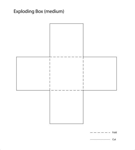 exploding box template   psd  format