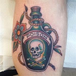 18 Sinister Poison Bottle Tattoos | Tattoodo